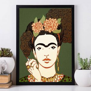 Frida Kahlo And Cigarette