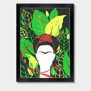 Frida Kahlo And Leafs