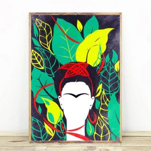Frida Kahlo And Leafs Spring Green