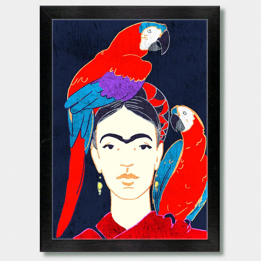 Frida Kahlo And Parrots