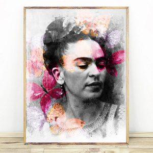 Frida Kahlo Color Butterfly