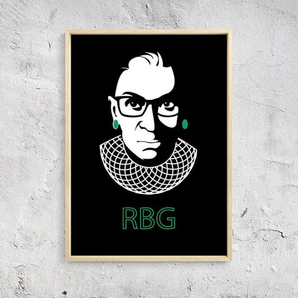 Ruth Bader Ginsburg Black BG Mockup 03
