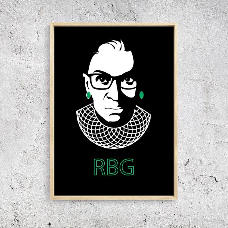 Ruth Bader Ginsburg RBG Black BG