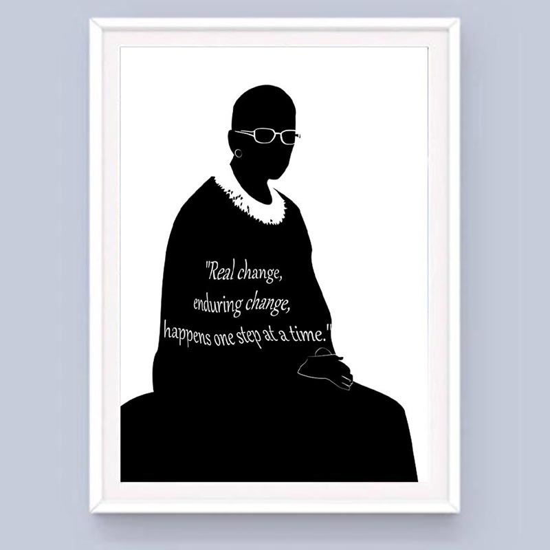 Ruth Bader Ginsburg Silhouette