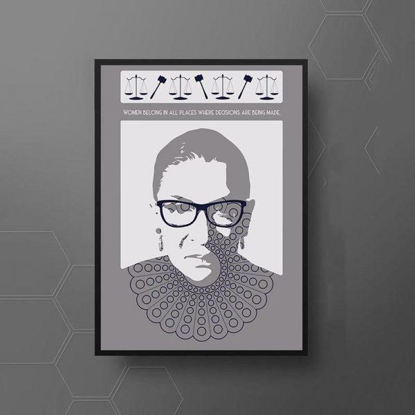 Ruth Bader Ginsburg Face Collar Justice Symbols Mockup 05