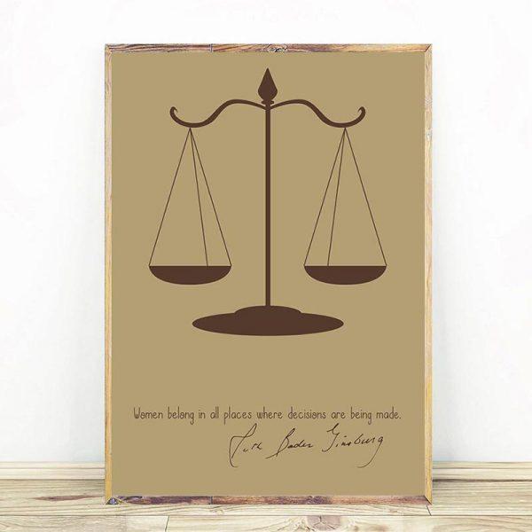 Ruth Bader Ginsburg Scales of Justice Mockup 02
