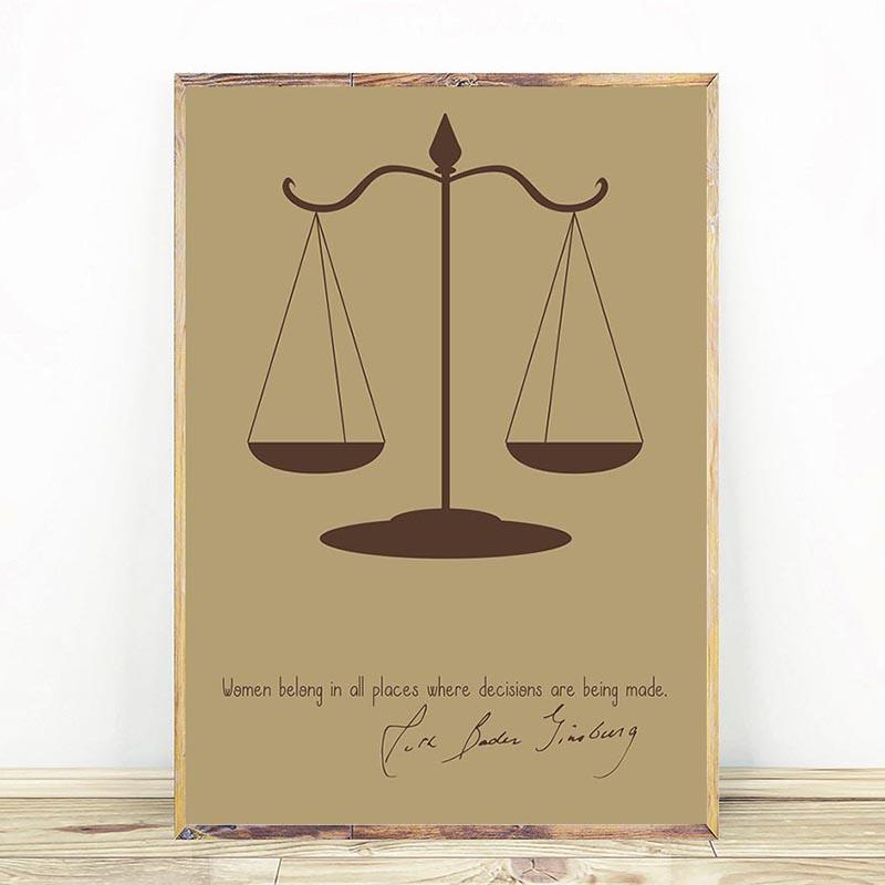 Ruth Bader Ginsburg Scales of Justice