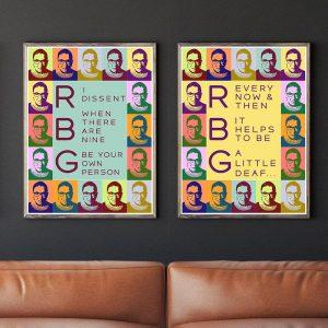 Set of 2 Ruth Bader Ginsburg Quotes