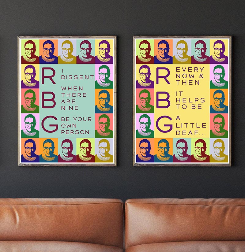 Set of 2 Ruth Bader Ginsburg Quotes