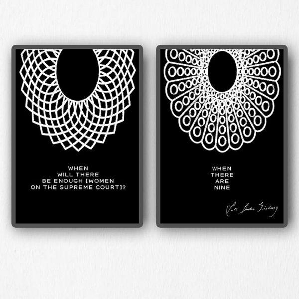 Set of 2 Ruth Bader Ginsburg Collars Mockup 03