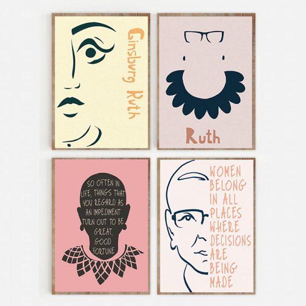 Set of 4 Ruth Ginsburg Color Var 5 Mockup 03