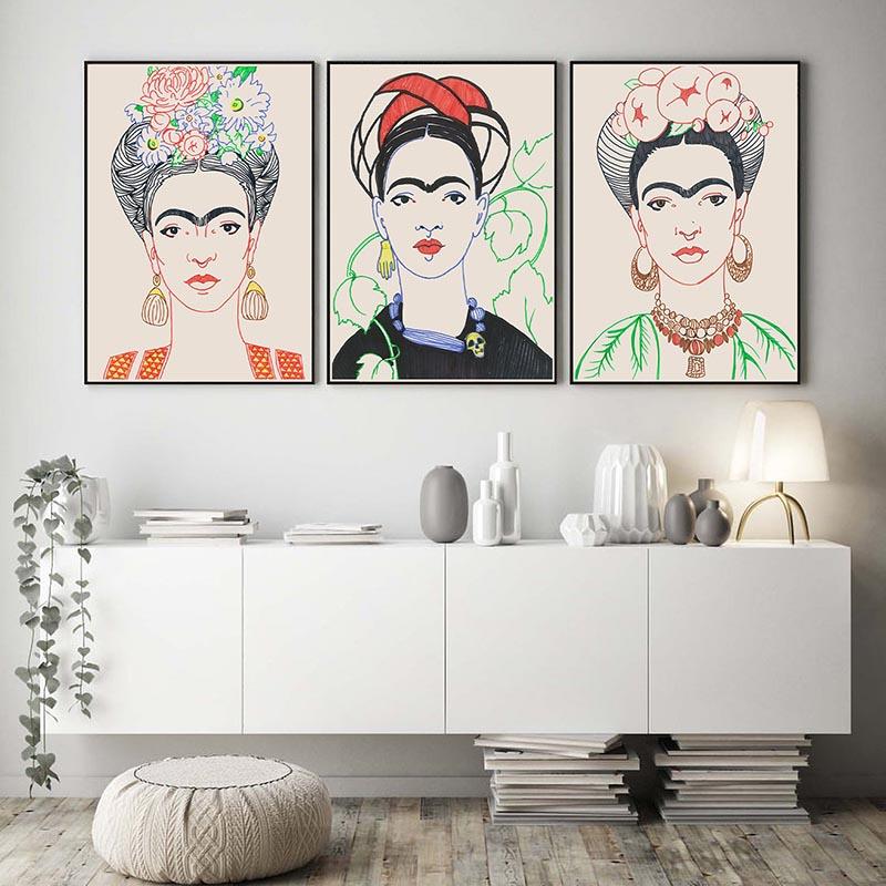 Set of 3 Frida Kahlo Sand BG
