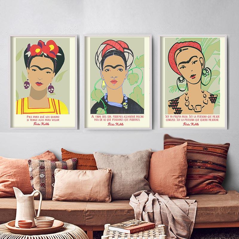 Set of 3 Frida Kahlo Spanish Quotes