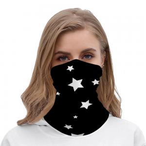 White Stars on Black Background
