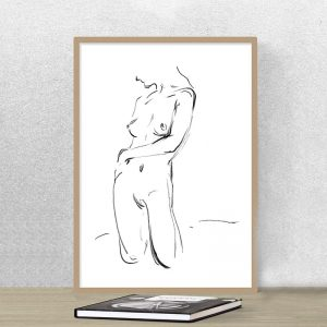 Nude Girl Kneeling