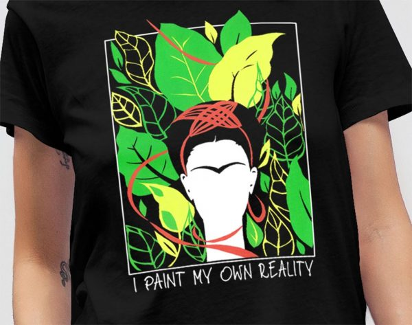 Tshirt Frida Kahlo Leaves Mockup 09